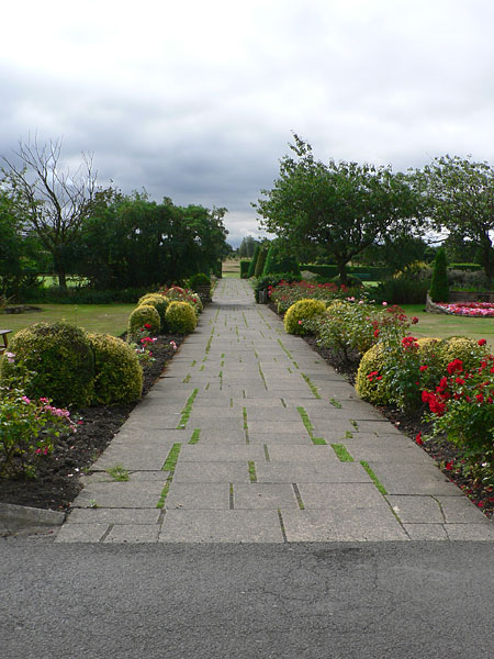 Footpath from the Hall to the golf course