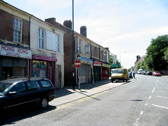 Shops on the south side of Elswick Road