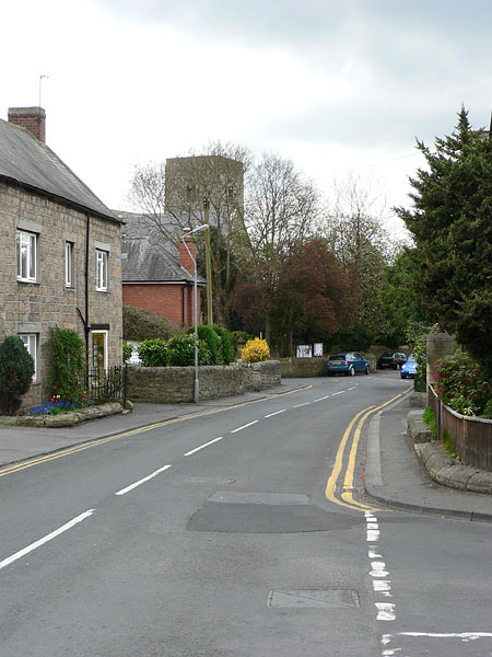 Castle View, the main road running through the village