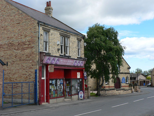 Newsagents shop and Methodist Chapel