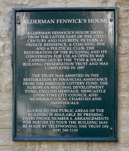Alderman Fenwick's House