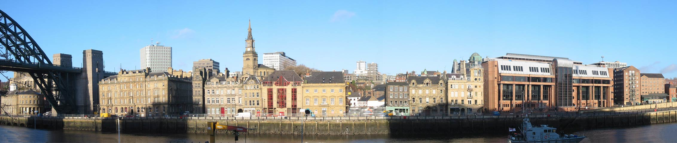 Panoramic view of The Quayside